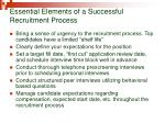 essential elements of a successful recruitment process