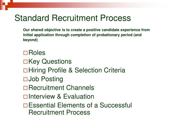 Standard recruitment process2