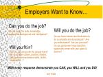 employers want to know