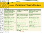 suggested informational interview questions