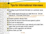 tips for informational interviews