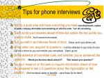 tips for phone interviews