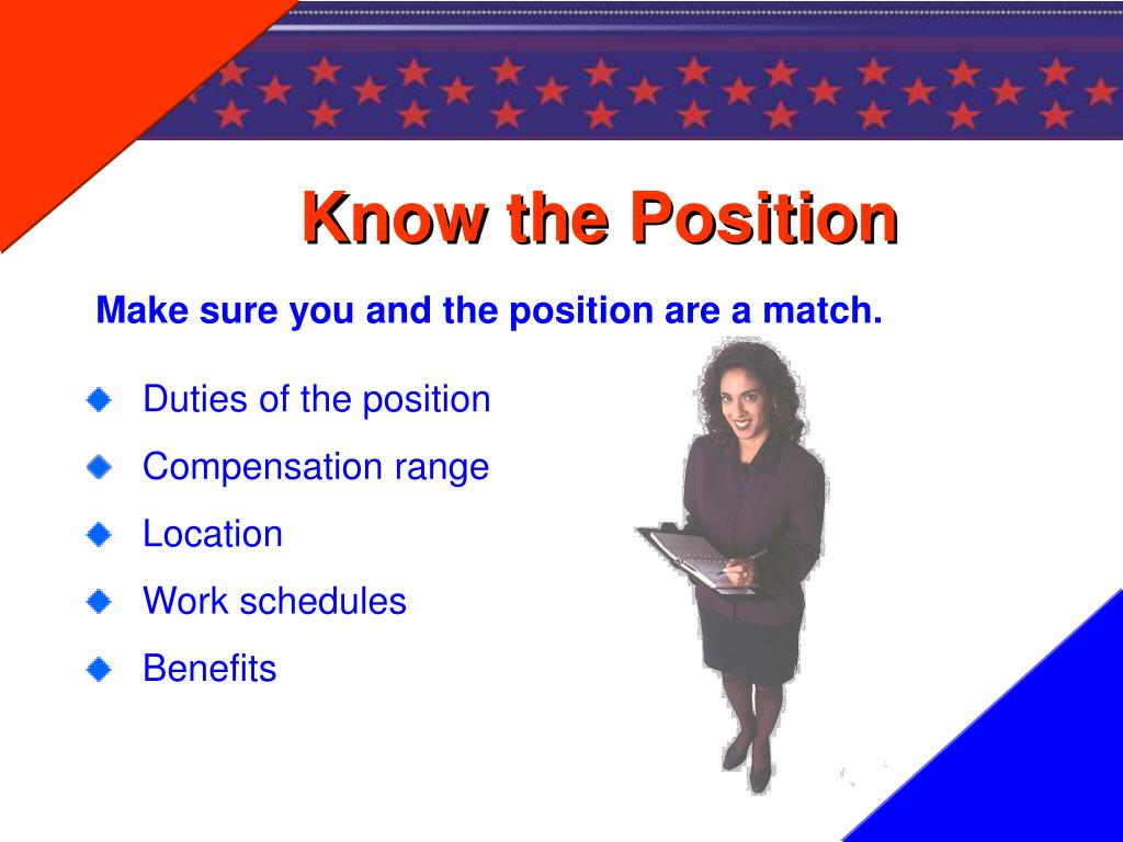 Know the Position