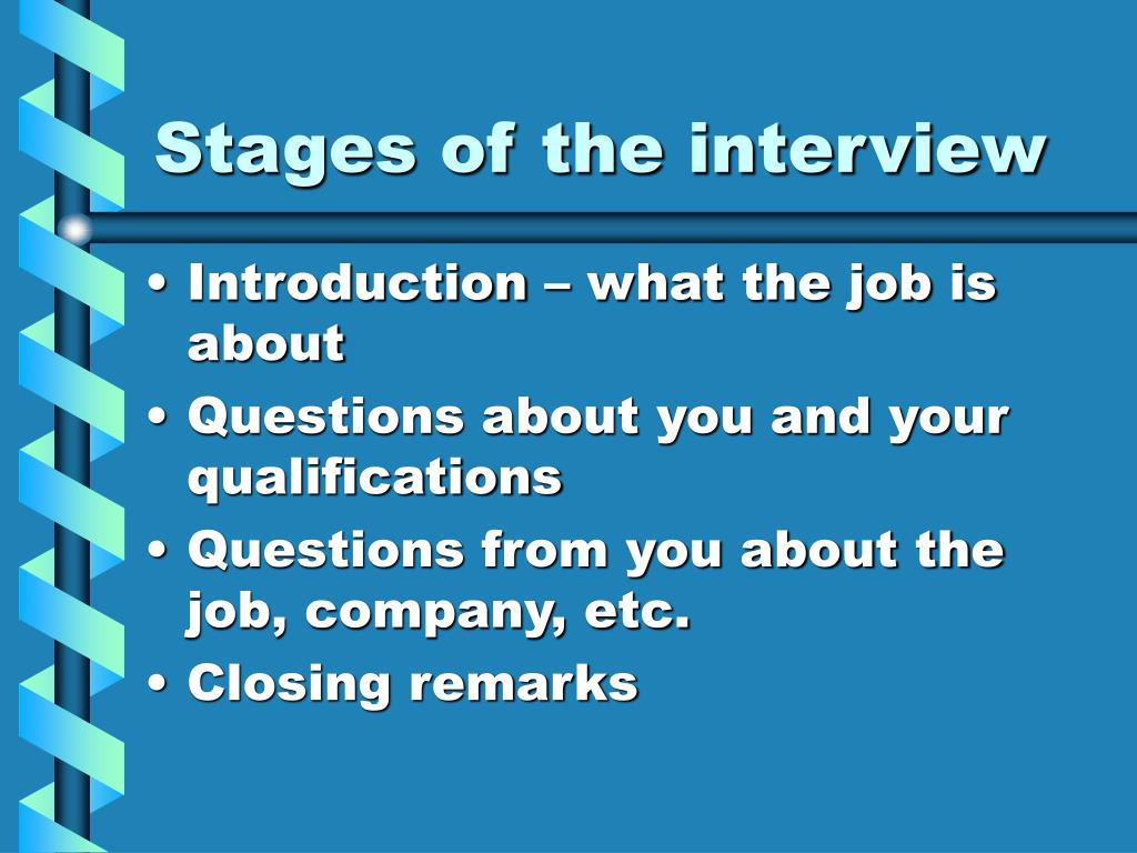 Stages of the interview