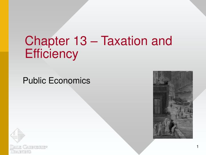 chapter 13 taxation and efficiency n.