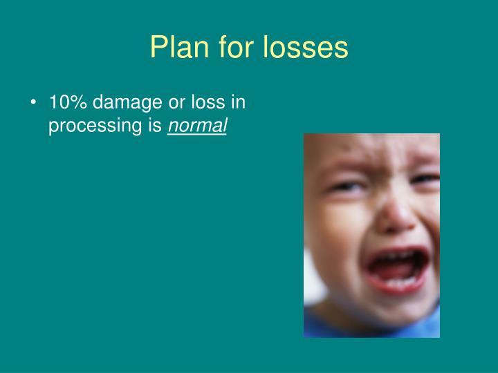 Plan for losses
