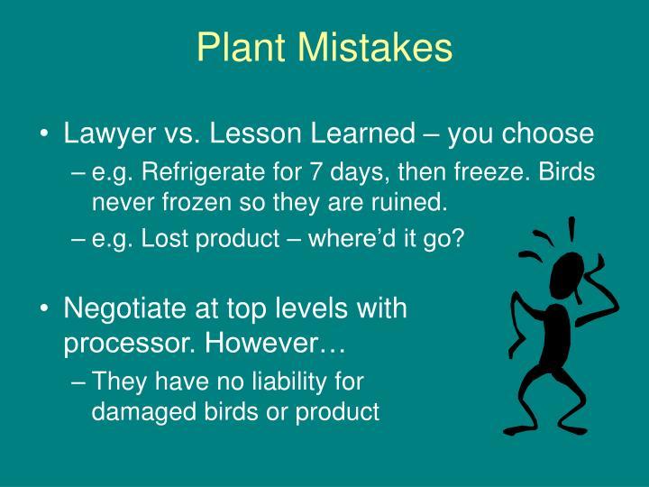 Plant Mistakes
