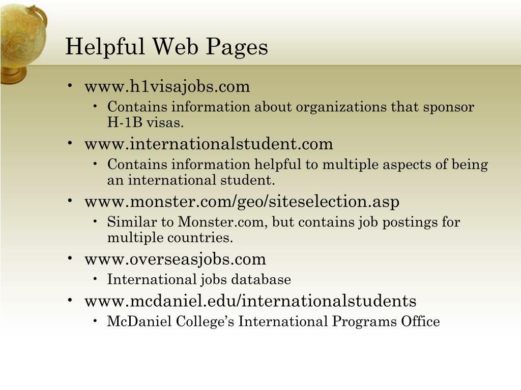 Helpful Web Pages