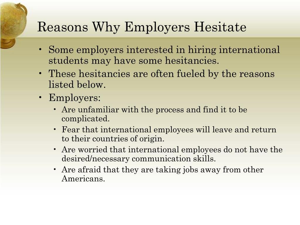 Reasons Why Employers Hesitate