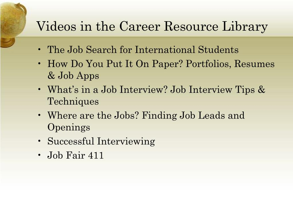 Videos in the Career Resource Library