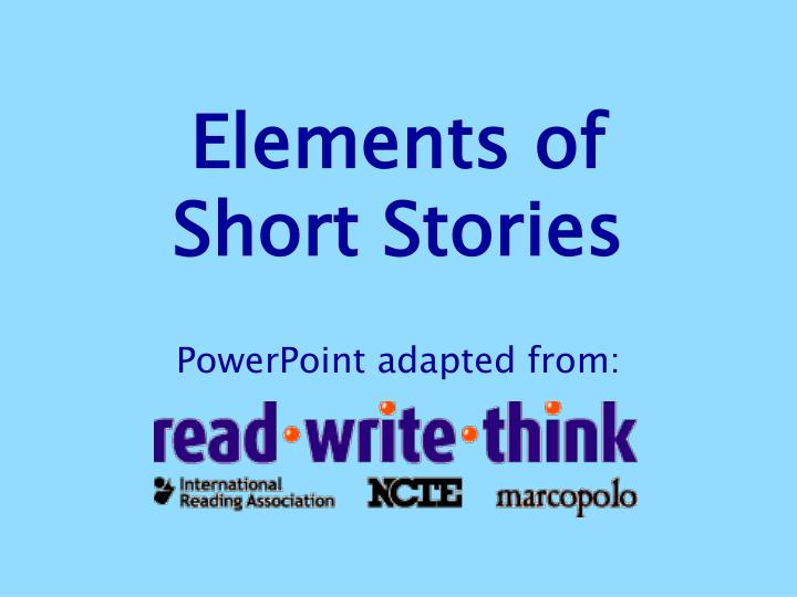elements of short stories n.