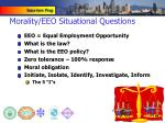 morality eeo situational questions
