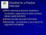 checklist for a positive interview9