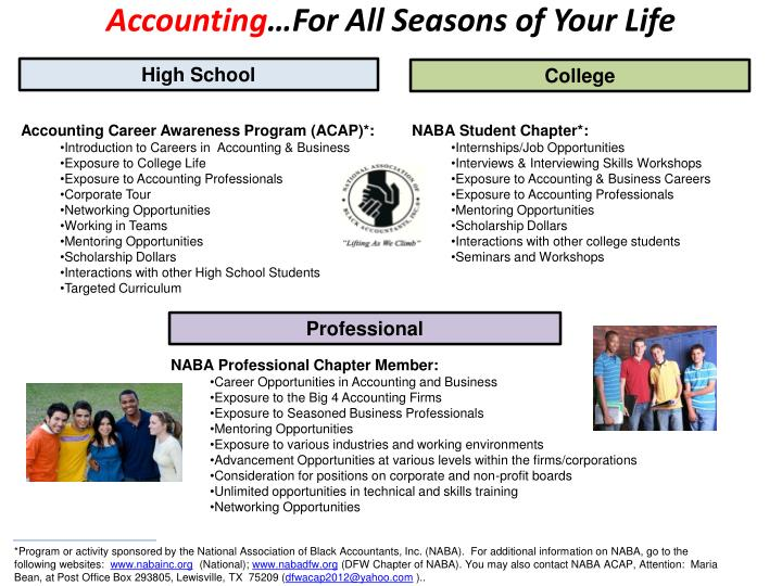 accounting for all seasons of your life n.