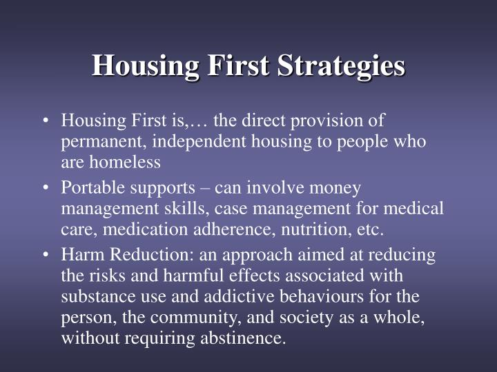Housing First Strategies