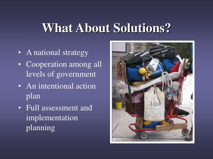 What About Solutions?