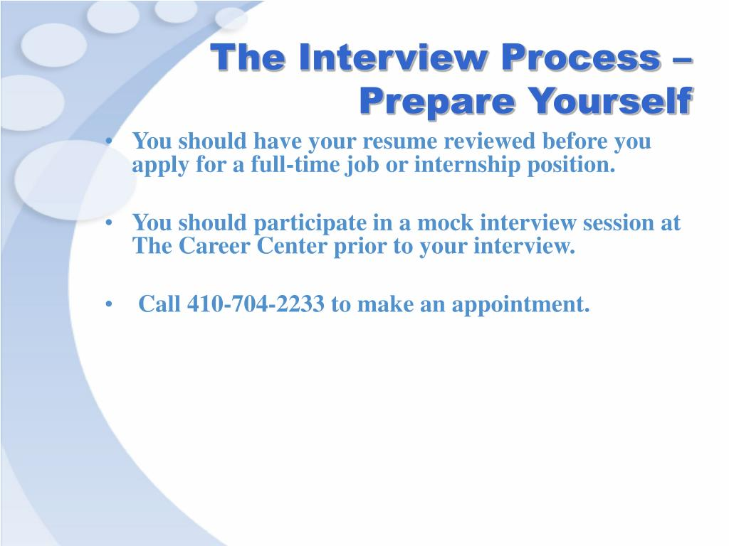 The Interview Process – Prepare Yourself