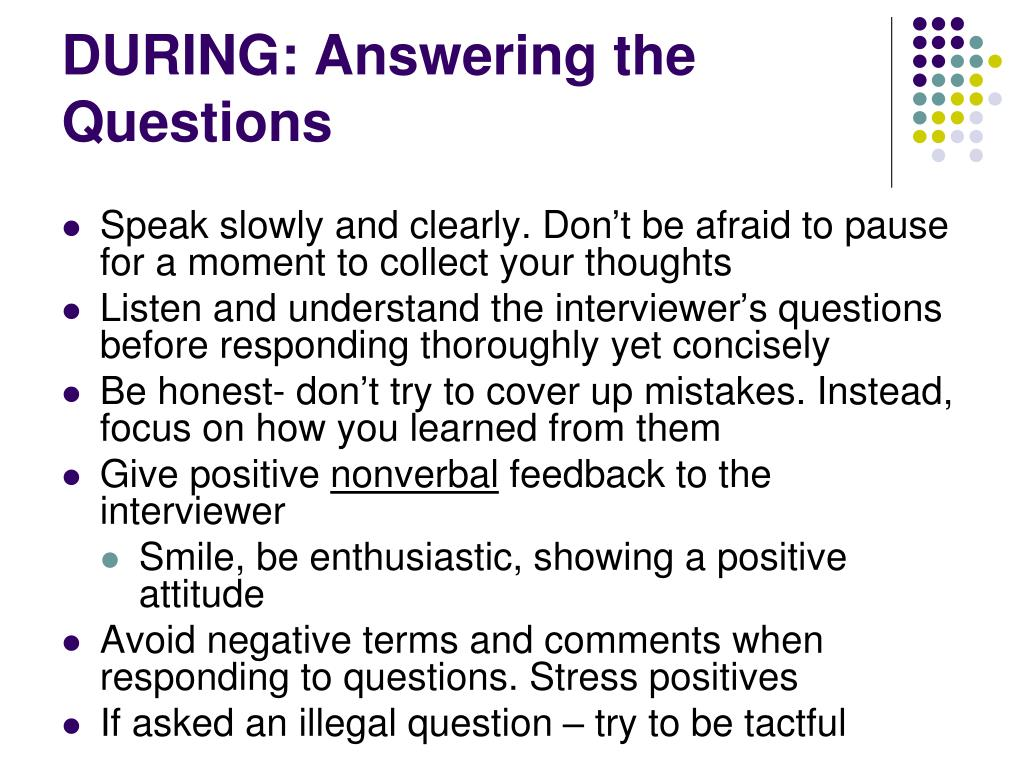 DURING: Answering the Questions