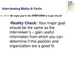 interviewing myths facts20
