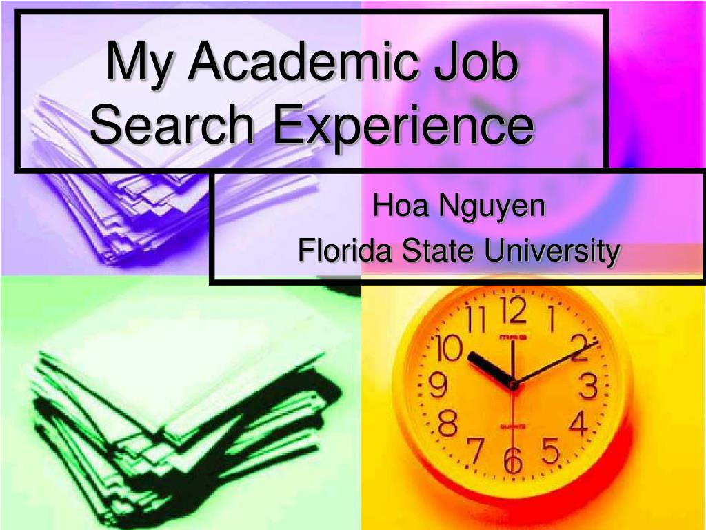 my academic job search experience l.