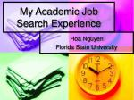 my academic job search experience
