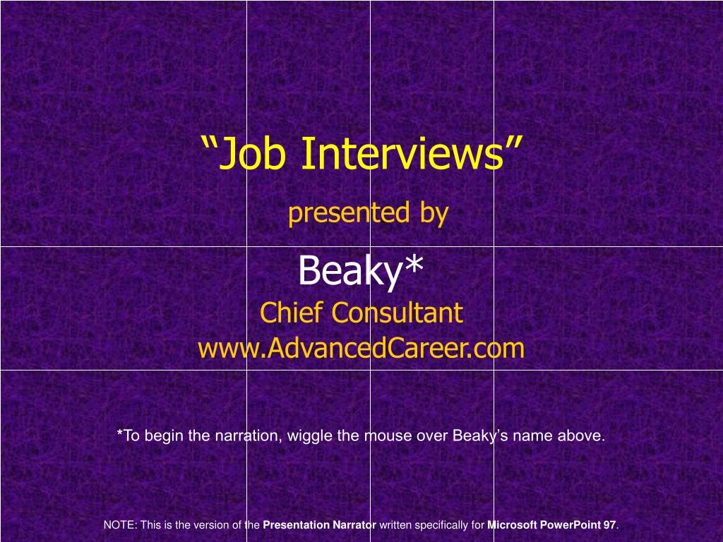 job interviews presented by l.