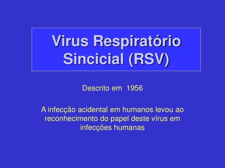 Virus respirat rio sincicial rsv1
