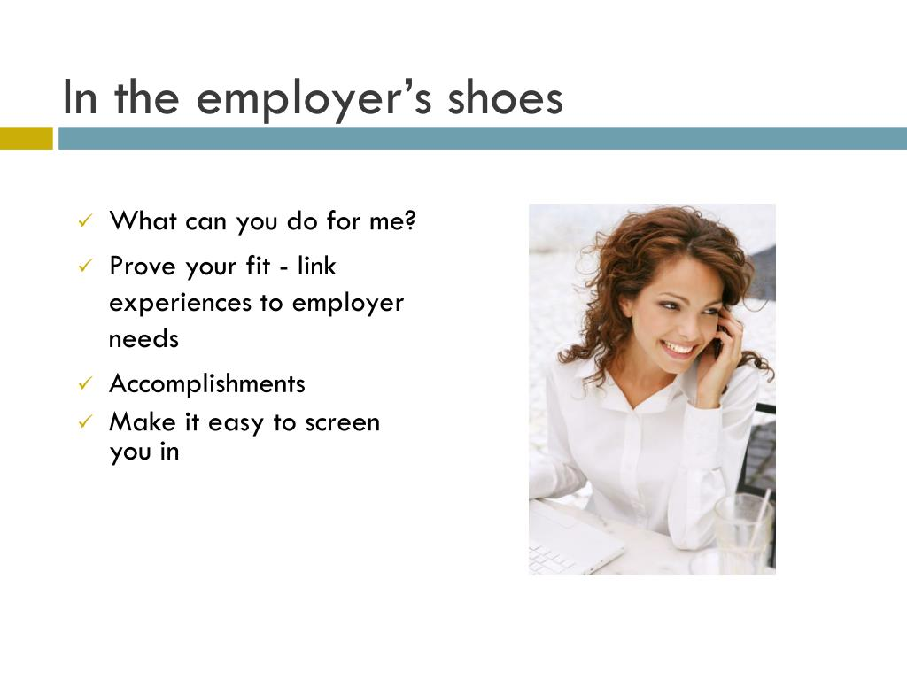 In the employer's shoes