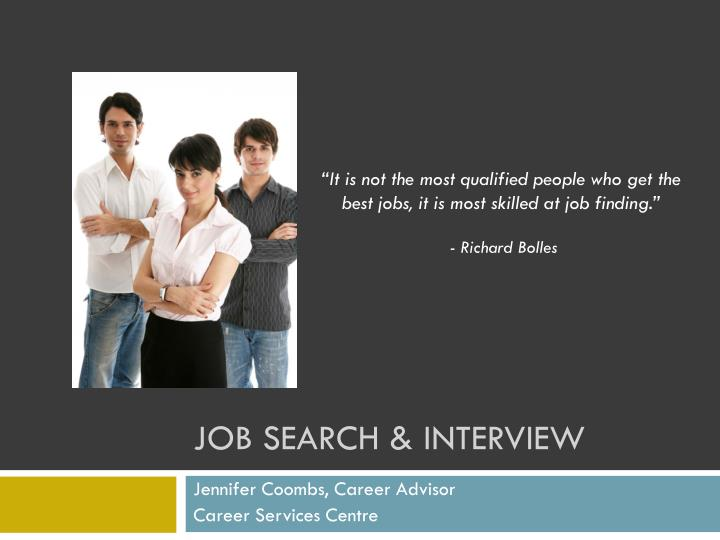 Job search interview