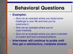 behavioral questions18