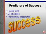 predictors of success34
