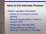 value of the interview process31