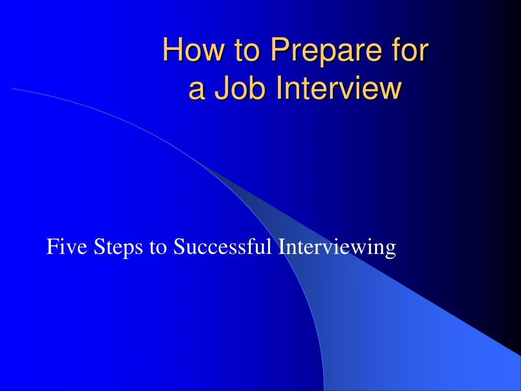 how to prepare for a job interview l.