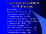 the number one method for finding a job
