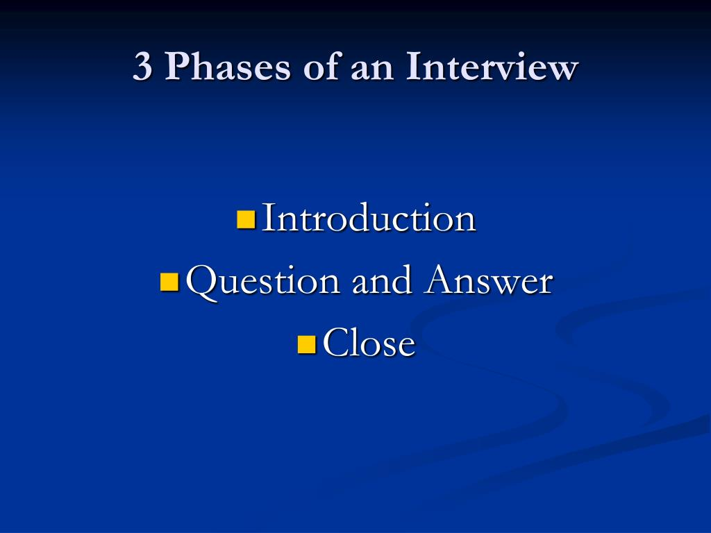 3 Phases of an Interview