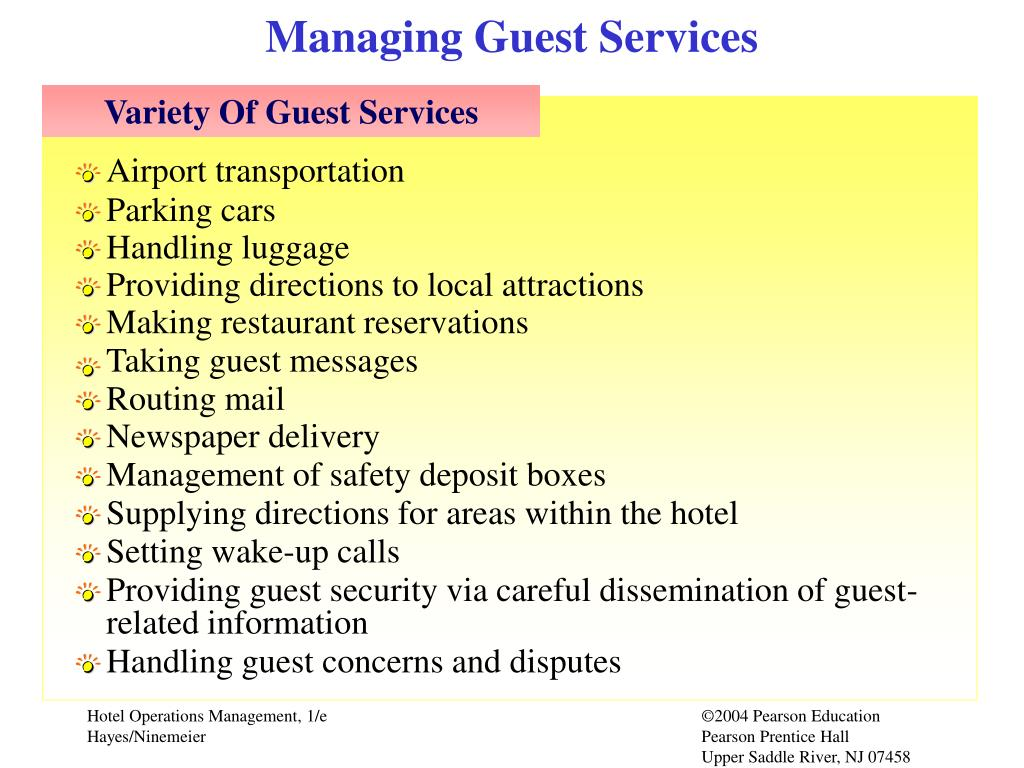 Managing Guest Services