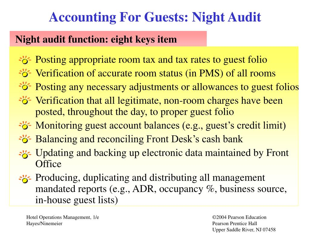 Accounting For Guests: Night Audit