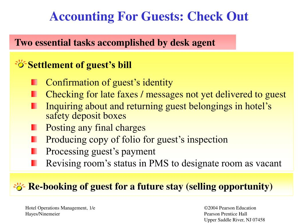 Accounting For Guests: Check Out