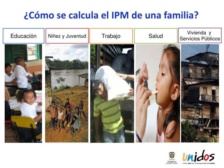¿Cómo se calcula el IPM de una familia?