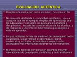 evaluacion autentica