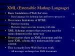 xml extensible markup language