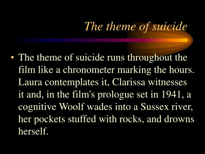 The theme of suicide