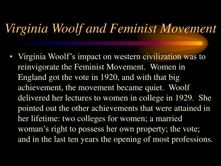 Virginia Woolf and Feminist Movement