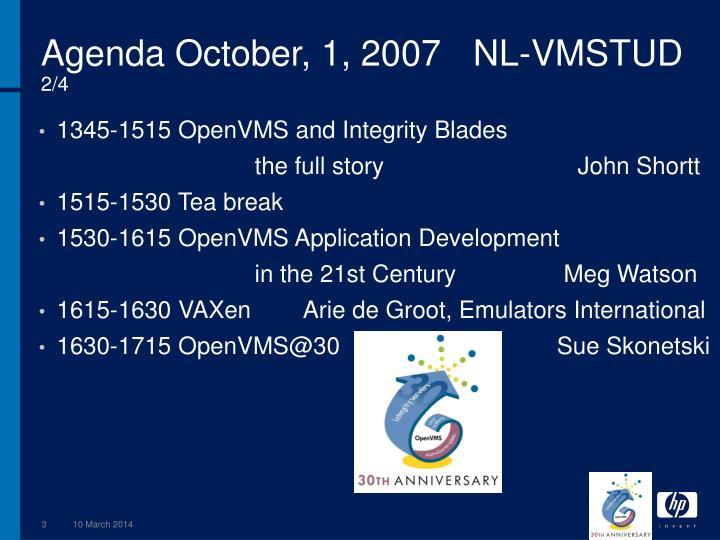 Agenda october 1 2007 nl vmstud 2 4