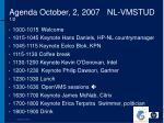 agenda october 2 2007 nl vmstud 1 2