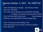 agenda october 2 2007 nl vmstud 2 2