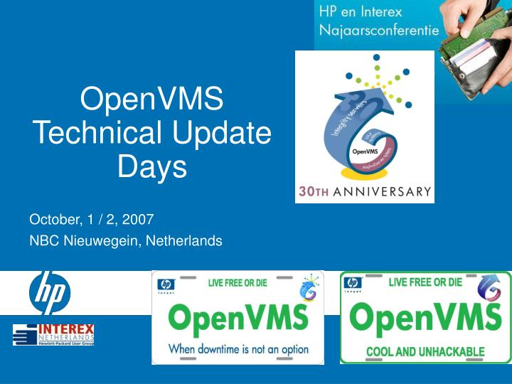 Openvms technical update days