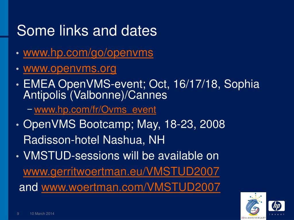 Some links and dates