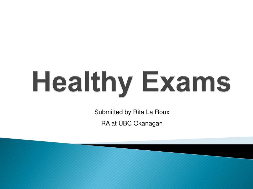 healthy exams l.