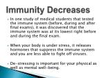 immunity decreases